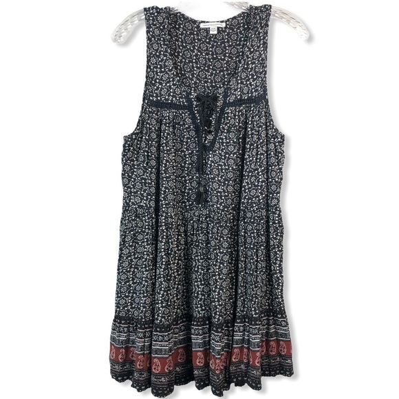 American Eagle Boho Tiered Sleeveless Mini Dress M